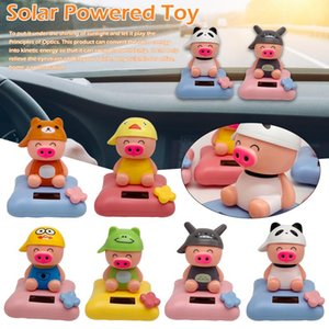 1 Pcs Creative Car Decor Solar Powered Dancing Animal McDull Pig Doll Swing Animated Dancer Pig Funny Tricky Rock Toy