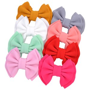 Double layer Hair Bows Solid Hair Clip For Kids Girls Boutique Handmade Hairgrips Colorful Barrettes Hair Accessories