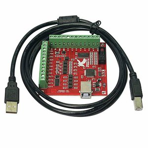 Freeshipping Cnc Usb 4 Axis 100 Khz Usb Motion Control carta bordo di sblocco di 12-24 V con Jog Handler per incidere di CNC libero-Drive