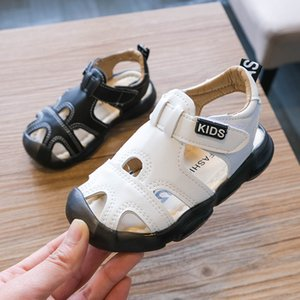 Summer 2020 Sandals for Children's Closed Toe Anti-kick Baby Boy New Sports Kids Soft Bottom Boys Beach Shoes D04232 T200703