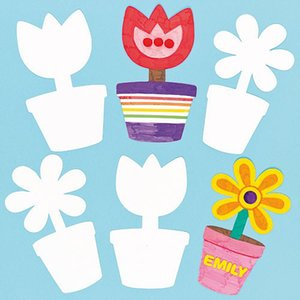 20PCS LOT Paint Unfinished Flower Vase Cardboard Paper Kids Children Baby DIY Toys Early Learning Educational Drawing Toy Craft