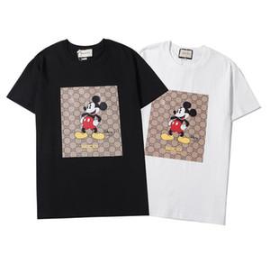 2020 novos homens da moda e t-shirt das mulheres de manga curta, design lazer moda, puro algodão de alta qualidade, impressão fina,