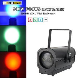 200W Cob LED Par with Zoom Stage Lights  Spot Light NO Flicker RGBW 4in1 Par Light for Theatre Show
