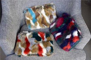 Designer-fourrure femmes mode Embrayages lambrissé Sacs portefeuille de boles de Crossbody de sac à bandoulière enveloppe dames de luxe d'embrayage soir Sacs femmes