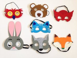 Special 7 Assorted Felt Animals Masks for birthday gifts party Christmas costume Favors school concert for all 1set=7masks