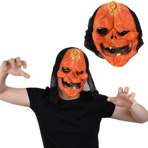 Head Mask Fashion Latex Skull Costume Accessories Costume Party Spoof Cosplay Halloween Scary Pumpkin