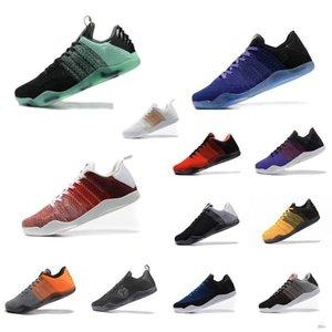 Mens ZK Mamba 11 elite low basketball shoes retro new Christmas Green FTB White Black KB11 Kyrie sneakers tennis with box