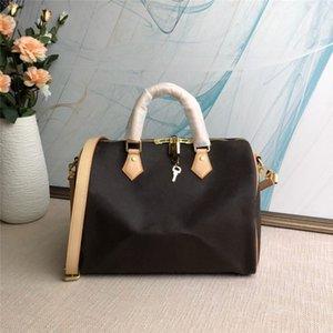 SPEEDY Boston femme série sac à bandoulière épaule oreiller fleur brune femmes sac fourre-tout sacs à main sacs à main 3 taille