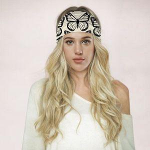 Papillon imprimé léopard Yoga Bandeaux Outdoor Sport Fitness Hairband Bandeau multifonctions Bandana Mode Femmes Accessoires Bijoux