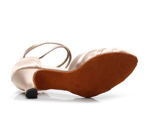 Zapatos elegantes Salsa Moda Jazz salón de baile latino para bailar Formación mujeres chinas Latino Blanco 1041 Bombas