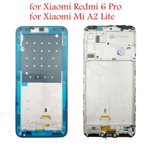 Para xiaomi mi a2 lite middle frame redmi 6 pro frente Habitação Bezel Faceplate Bezel LCD Suporte de Peças de Reparo Da Placa de Quadro