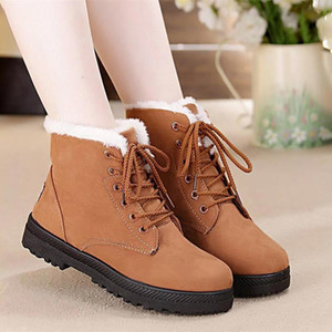 Outdoor Camping Shoes Women Boots 2020 New Winter Boots Women Shoes Warm Snow Boots Fashion Women Ankle Shoe Flock Winter Shoes Woman 35-44
