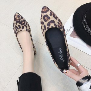 Flat Sandals Shoes Fish Mouth Sandals Leather Women Flat Sandals Ladies Shoes Leopard Shoes Light Breathable Mokasyny Damskie