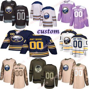 Custom 2020 News Buffalo Sabres Hockey Jerseys Multiple styles Mens Custom Any Name Any Number Hockey Jerseys