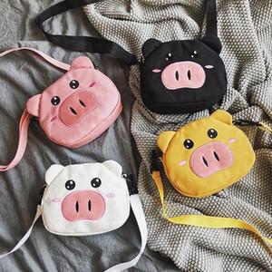 Симпатичная свинья одно плечо сумка холст сумки студент Crossbody Messenger сумки для женщин девочек