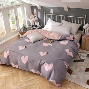 Princess style Bedding set pink love duvet cover quilt cover comfortable home textile twin full queen king size Good quality