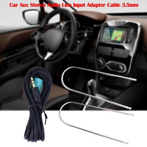 Voiture Aux ligne stéréo Entrée audio Adaptateur 3.5mm Câble pour Clio Megane ligne audio AUX Accessoires voiture 20Dev13