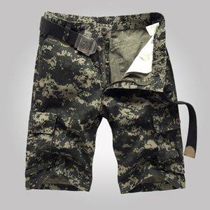Military Style New Men Cargo-Shorts Camouflage Hosen, Knielänge Military Shorts, Multi -Pocket Bermuda Masculina Mid-Art
