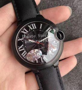 2 Style LuxuxMens Automatik Eta 2824 Uhr-Männer HBBV6 Fabrik 42mm Leder WSBB0015 Schwarz ADLC Pvd W6900551 Gelbgold Saphir Uhren