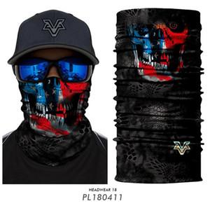 وشاح الجمجمة السحري يمتطي قناع نصف الوجه 10 أنماط ثلاثية الأبعاد رياضة ركوب الدراجات لصيد الأسماك Bandana Headband Men Party Men Convices OOA7822