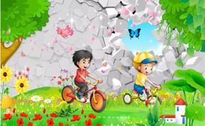 Children's Paradise 3d Beautiful Scenery Cartoon Habitación para niños Habitación para niños Mural