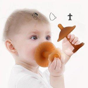 1pcs bébé silicone Teether Pacifier creux Poignée bébé Bite Molar bâton Sevrage artefact Bite Safety Training Grip Pacifier