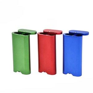 Coque de cigarette en alliage d'aluminium Réserve Cas de pipe en métal Cas de tuyau de pipe Portable Cas de magasin multifonctions 3 couleurs libres