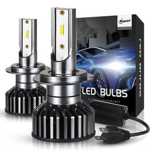 NLpearl 2x H7 Led Headlight Bulbs H7 Led Canbus H4 H11 H3 H1 9005 HB3 9006 HB4 9012 H8 12V 50W 12000LM Zes Chips Auto Headlamps
