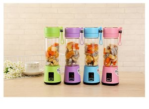 Portable Electric Fruit Juicer Cup Vegetable Citrus Blender Juice Extractor Ice Crusher 400ml with USB Connector Rechargeable Juice Maker