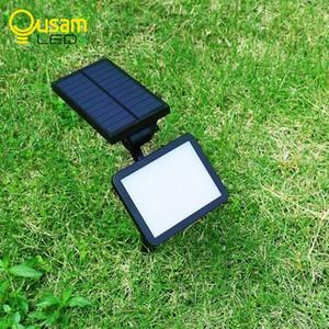 Jardim Lawn Lâmpada solar Painel solar impermeável Luzes de carregamento 48 Led 960LM Lampe Wall Light Solaire iluminação exterior multi-ângulo