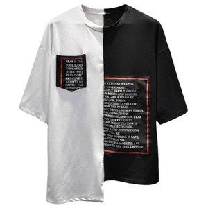Brief drucken Marke T-Shirts Mens Designer T-Shirt mit Kurzarm Rundhalsausschnitt T-Shirts für Hip-Hop-Mode Männer