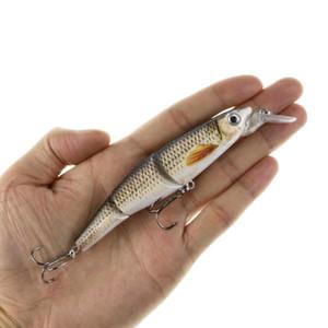 Multi Jointed lebensechte Minnow Fischköder 12cm 16.5g Swimbait Wobblers Lure Bass Pike Muskie Barsch Fischköder Rasseln