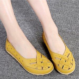 Mulheres Flats couro macio genuíno de Sapatos Mulher Loafers Oxford sapatos para as mulheres brancas sapatos mocassins Slipony Plus Size 35-44