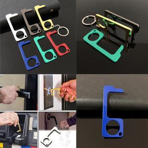 جديد 6 لون معدن السلامة لمس أقل EDC فتحت باب ستايلس مفتاح ربط الأيدي باب الحرة مقبض ستايلس مفتاح سلسلة DA474