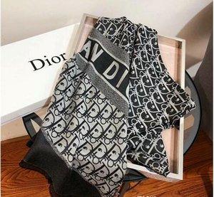 Последняя мода осень зима Шелковый шерстяной шарф шаль письмо классический дизайнер повседневная удобная шаль может быть оптом