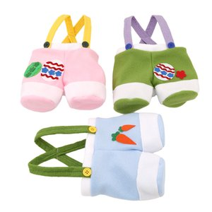 Funny Rabbit Trousers Pants Handbag Easter Decoration Tote Bag Baby Toys Organizer for Collectiong Candy Wedding Gift and Favor