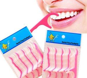 25pcs 1 bolsa de plástico palillo de dientes algodón hilo dental palillo de dientes interdental Flosser dientes Vara para la tabla de la Salud Accesorios para herramientas palillo de dientes KKA7840