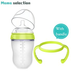 high quality more than six months silicone Baby Bottle baby milk silicone feeding bottle