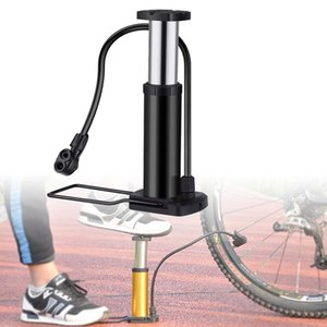 Bike Mini Floor Foot Activated Bicycle Air and Aluminum Alloy Portable Pump Mountain Bicycle Accessories Cycling Bike Tire Pump Com