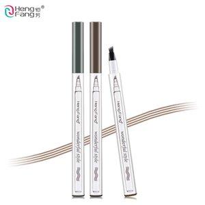 الحاجب قلم رصاص 4 رئيس شوكة تصميم الشكل 3 ألوان الحواجب 1.5G ماكياج العلامة التجارية HengFang # H6545