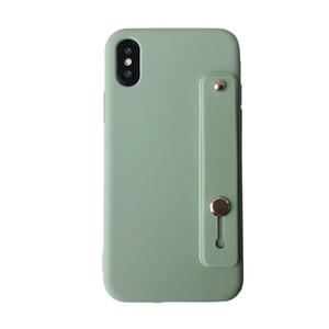 Handy-Halter-Kasten für iPhone7 8 11Pro Max XR XS Selbstklebende Handschlaufe Lanyard-Kasten-Silikon-Kasten-rückseitige Abdeckung Luxus-Hüllen
