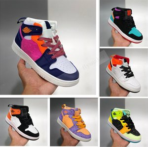 2020 1 1s Kids Basketball Shoes PreSchool Signed High Youth Chicago New Born Baby Infant Toddler Trainers Small Boys Girls Sneaker
