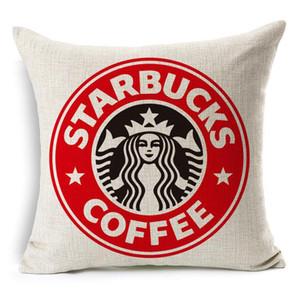 starbucks cup Yeni Yastık Saf Renk Polyester Beyaz Yastık Kapak Yastık Kapak Dekor Yastık Kılıfı Noel Dekor Hediye 45 * 45cm