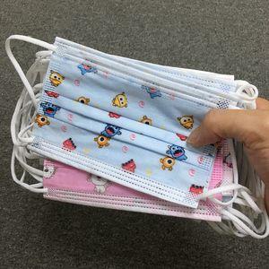 11 Mascarillas diseñador del diseño de los niños con respirador desechable elástico del oído Loop 3 capas transpirable para el bloqueo de la máscara de polvo del aire contra la contaminación