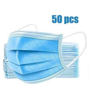 Prezzo più in magazzino DHL monouso Maschere Maschera 3-Ply Viso, protezione e maschera di salute personale, Maschere Earloop Bocca Volto sanitari