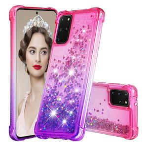 Pour Samsung A51 Case liquide luxe Glitter Brillant souple TPU couverture pour Samsung Galaxy A71 A01 A11 A21