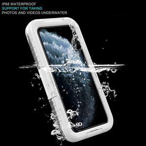 Impermeable teléfono de diseño de lujo caja del teléfono casesTransparent PC de silicona a prueba de golpes caso para iPhone Pro 11 x max max suamsung S10