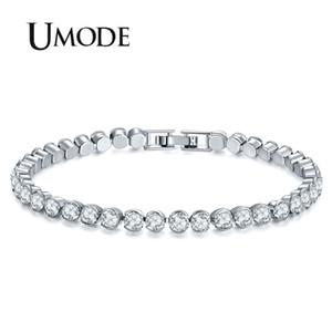 UMODE nuove donne moda argento colore bracciali di lusso rotonda cubic zirconia braccialetto per le donne gioielli da sposa regali UB0175A