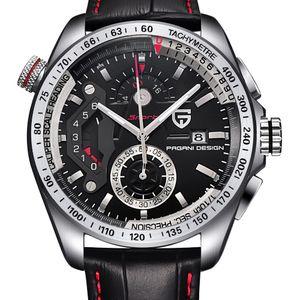 Orologi Relogio Masculino impermeabile Calendario esterna in pelle cronografo sportivo PAGANI design in acciaio inossidabile al quarzo Uomo