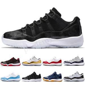 NIKE Air Jordan 11 Retro 2019 новый 11 темно-синий розовый змеиная кожа баскетбольные туфли разводят Конкорд Джорджтаун space jam GG 11s Chaussures de basket SK03